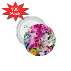 Colorful Flowers Patterns 1 75  Buttons (100 Pack)  by BangZart