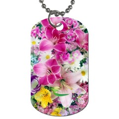 Colorful Flowers Patterns Dog Tag (two Sides)