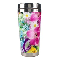 Colorful Flowers Patterns Stainless Steel Travel Tumblers by BangZart