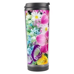 Colorful Flowers Patterns Travel Tumbler by BangZart