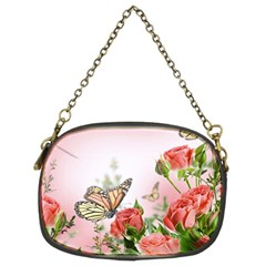 Flora Butterfly Roses Chain Purses (two Sides)