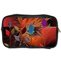 Colorful Leaves Toiletries Bags 2 Side