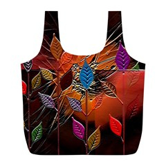 Colorful Leaves Full Print Recycle Bags (l)  by BangZart
