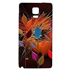 Colorful Leaves Galaxy Note 4 Back Case by BangZart