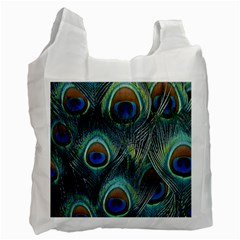 Feathers Art Peacock Sheets Patterns Recycle Bag (two Side)  by BangZart