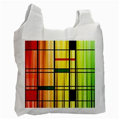 Line Rainbow Grid Abstract Recycle Bag (one Side)