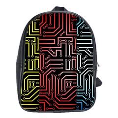 Circuit Board Seamless Patterns Set School Bags (xl)