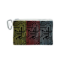 Circuit Board Seamless Patterns Set Canvas Cosmetic Bag (s)