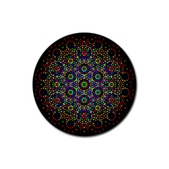 The Flower Of Life Rubber Round Coaster (4 Pack)  by BangZart