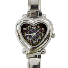 The Flower Of Life Heart Italian Charm Watch by BangZart