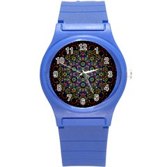 The Flower Of Life Round Plastic Sport Watch (s) by BangZart