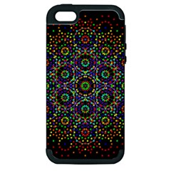 The Flower Of Life Apple Iphone 5 Hardshell Case (pc+silicone)