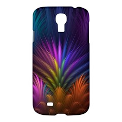 Colored Rays Symmetry Feather Art Samsung Galaxy S4 I9500/i9505 Hardshell Case by BangZart