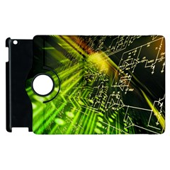 Electronics Machine Technology Circuit Electronic Computer Technics Detail Psychedelic Abstract Patt Apple Ipad 2 Flip 360 Case by BangZart