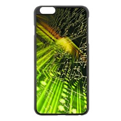 Electronics Machine Technology Circuit Electronic Computer Technics Detail Psychedelic Abstract Patt Apple Iphone 6 Plus/6s Plus Black Enamel Case by BangZart