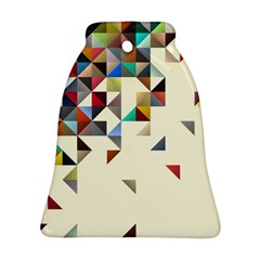 Retro Pattern Of Geometric Shapes Bell Ornament (two Sides) by BangZart