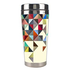 Retro Pattern Of Geometric Shapes Stainless Steel Travel Tumblers by BangZart