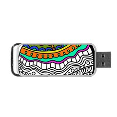 Abstract Apple Art Colorful Portable Usb Flash (one Side) by Nexatart