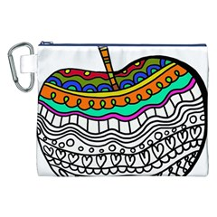 Abstract Apple Art Colorful Canvas Cosmetic Bag (xxl) by Nexatart