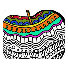 Abstract Apple Art Colorful Double Sided Flano Blanket (large)  by Nexatart
