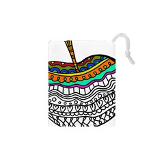 Abstract Apple Art Colorful Drawstring Pouches (xs)  by Nexatart