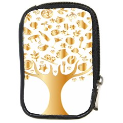 Abstract Book Floral Food Icons Compact Camera Cases by Nexatart