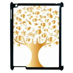 Abstract Book Floral Food Icons Apple Ipad 2 Case (black) by Nexatart