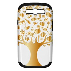 Abstract Book Floral Food Icons Samsung Galaxy S Iii Hardshell Case (pc+silicone) by Nexatart