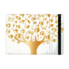 Abstract Book Floral Food Icons Apple Ipad Mini Flip Case by Nexatart