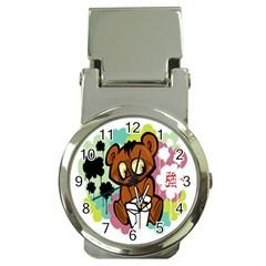 Bear Cute Baby Cartoon Chinese Money Clip Watches