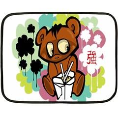Bear Cute Baby Cartoon Chinese Fleece Blanket (mini) by Nexatart