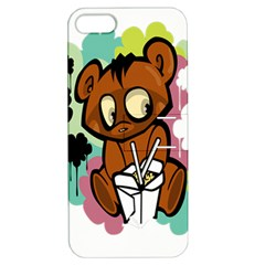 Bear Cute Baby Cartoon Chinese Apple Iphone 5 Hardshell Case With Stand by Nexatart