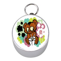Bear Cute Baby Cartoon Chinese Mini Silver Compasses by Nexatart