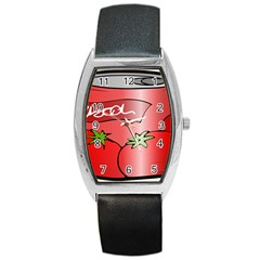 Beverage Can Drink Juice Tomato Barrel Style Metal Watch by Nexatart