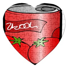Beverage Can Drink Juice Tomato Jigsaw Puzzle (heart) by Nexatart