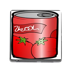 Beverage Can Drink Juice Tomato Memory Card Reader (square)