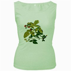 Berries Berry Food Fruit Herbal Women s Green Tank Top by Nexatart