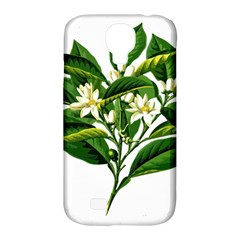 Bitter Branch Citrus Edible Floral Samsung Galaxy S4 Classic Hardshell Case (pc+silicone) by Nexatart
