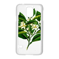 Bitter Branch Citrus Edible Floral Samsung Galaxy S5 Case (white) by Nexatart