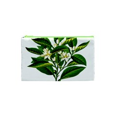 Bitter Branch Citrus Edible Floral Cosmetic Bag (xs) by Nexatart