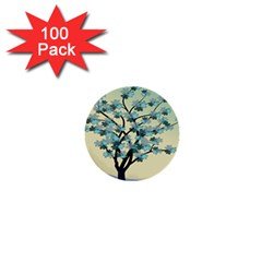 Branches Field Flora Forest Fruits 1  Mini Buttons (100 Pack)  by Nexatart