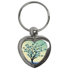 Branches Field Flora Forest Fruits Key Chains (heart)  by Nexatart