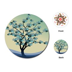 Branches Field Flora Forest Fruits Playing Cards (round)  by Nexatart