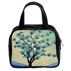 Branches Field Flora Forest Fruits Classic Handbags (2 Sides) by Nexatart