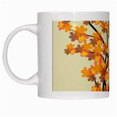 Branches Field Flora Forest Fruits White Mugs by Nexatart