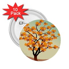 Branches Field Flora Forest Fruits 2 25  Buttons (10 Pack)  by Nexatart