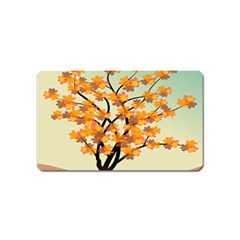 Branches Field Flora Forest Fruits Magnet (name Card) by Nexatart