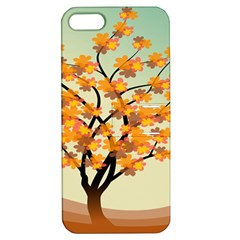 Branches Field Flora Forest Fruits Apple Iphone 5 Hardshell Case With Stand by Nexatart