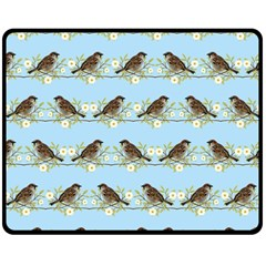 Sparrows Double Sided Fleece Blanket (medium)  by SuperPatterns
