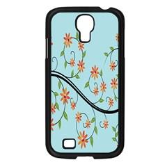 Branch Floral Flourish Flower Samsung Galaxy S4 I9500/ I9505 Case (black) by Nexatart